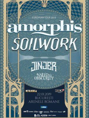 Amorphis, Soilwork si Jinjer – 22 ianuarie 2019, Arenele Romane