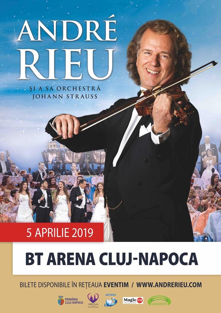 ANDRÉ RIEU în concert LIVE pentru prima dată la Cluj-Napoca 5 aprilie 2019, la BT ARENA