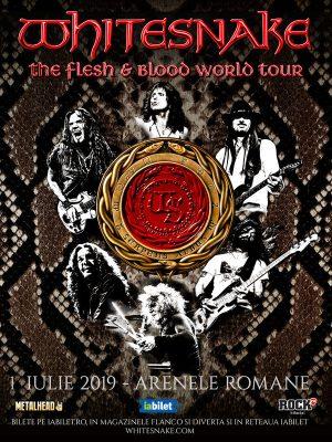 Concert Whitesnake la Bucuresti pe 1 iulie 2019