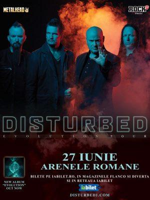 Trupa Disturbed va concerta în iunie 2019 la Bucureşti