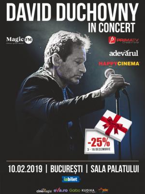 DAVID DUCHOVNY - IN CONCERT @Sala Palatului, București 2019
