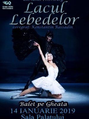 LACUL LEBEDELOR – BALET PE GHEATA este reinterpretat pe scena Salii Palatului, pe data de 14 ianuarie 2019, cu incepere de la ora 20.00